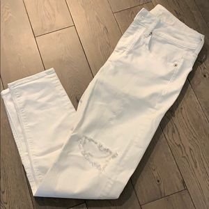White Distressed Jeans - American Eagle